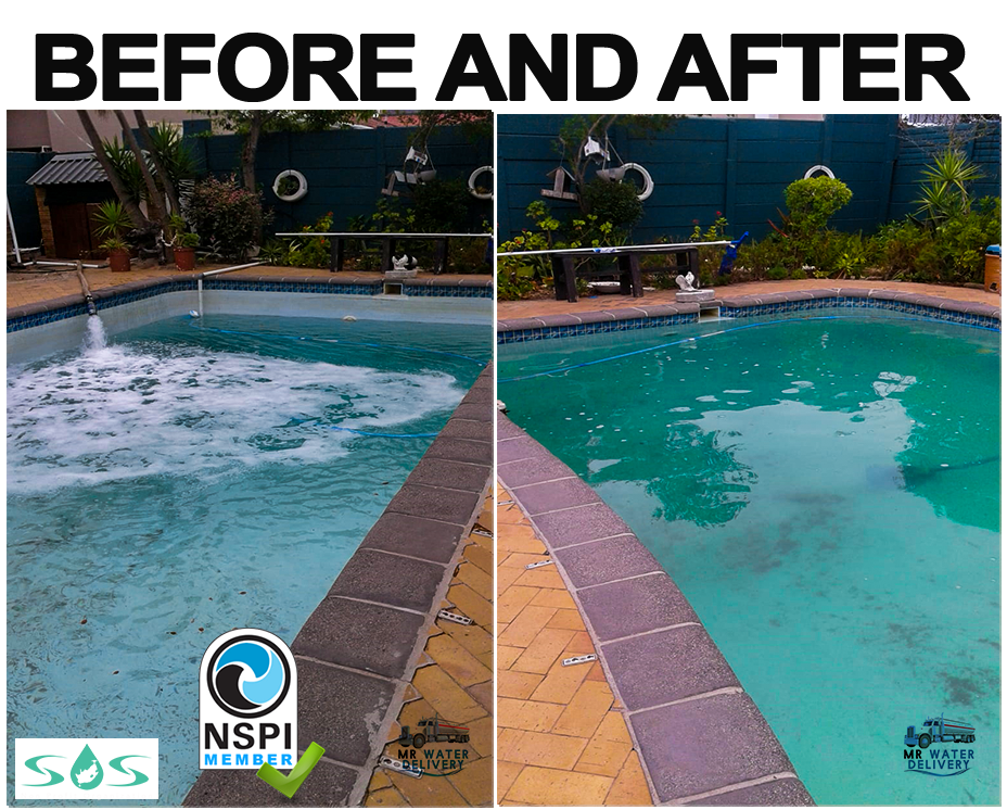 Water Delivery Western Cape-Mr Water delivery-Before and after-images-home-pool-delivery
